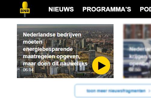 Martijn vertelt bij BNR Nieuwsradio over de energiebesparingsplicht