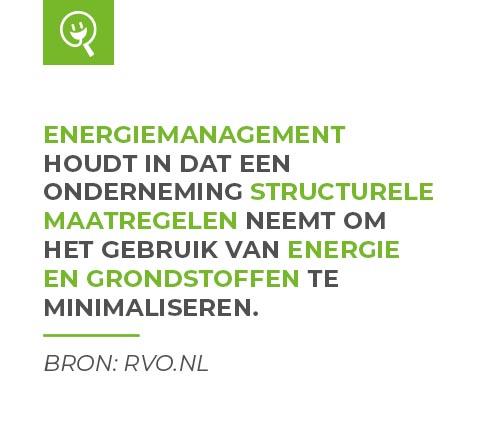 Energiemanagement volgens RVO