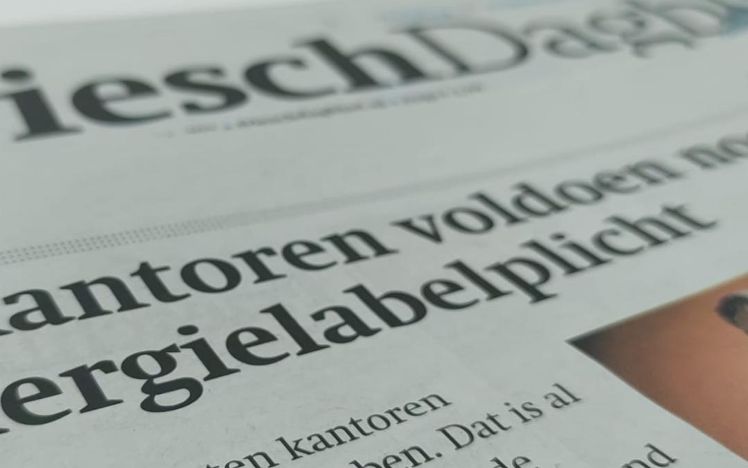 """Interview Friesch Dagblad: """"Kantoren hebben regelmatig in de zomer de airco en de verwarming tegelijk aan"""""""